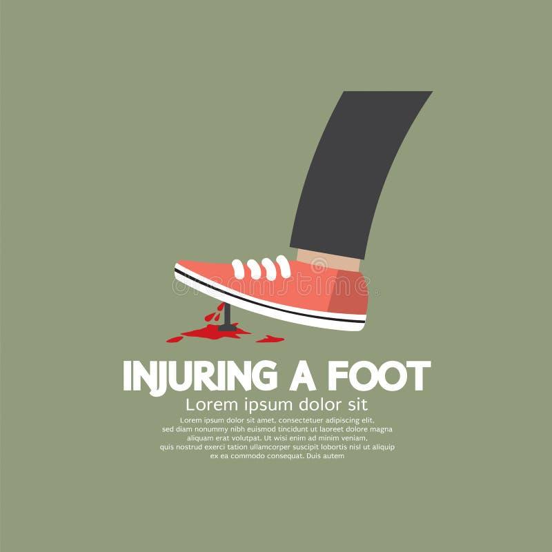 Повреждать ногу ногтем бесплатная иллюстрация