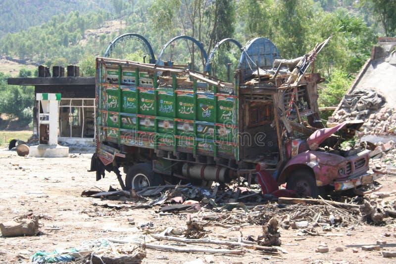 Повреждение в районе Пакистане Bruner от Талибан стоковые изображения rf