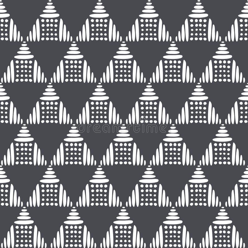 Картина черно-белого вектора безшовная Современная стильная текстура Повторение геометрических плиток от от striped руки вычерчен бесплатная иллюстрация