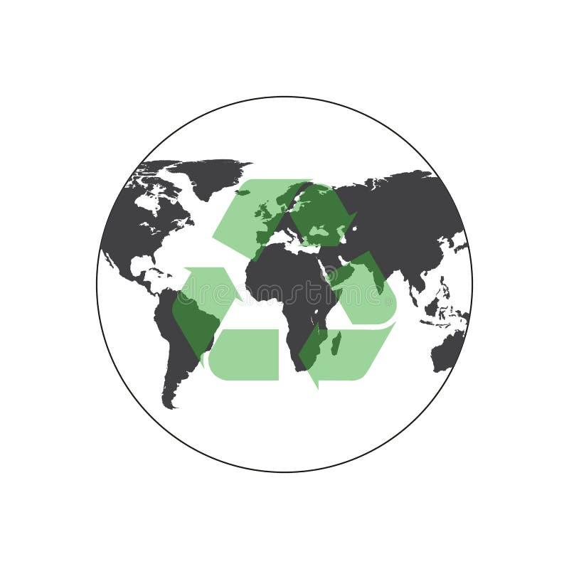 Повторно используйте планету земли также вектор иллюстрации притяжки corel бесплатная иллюстрация