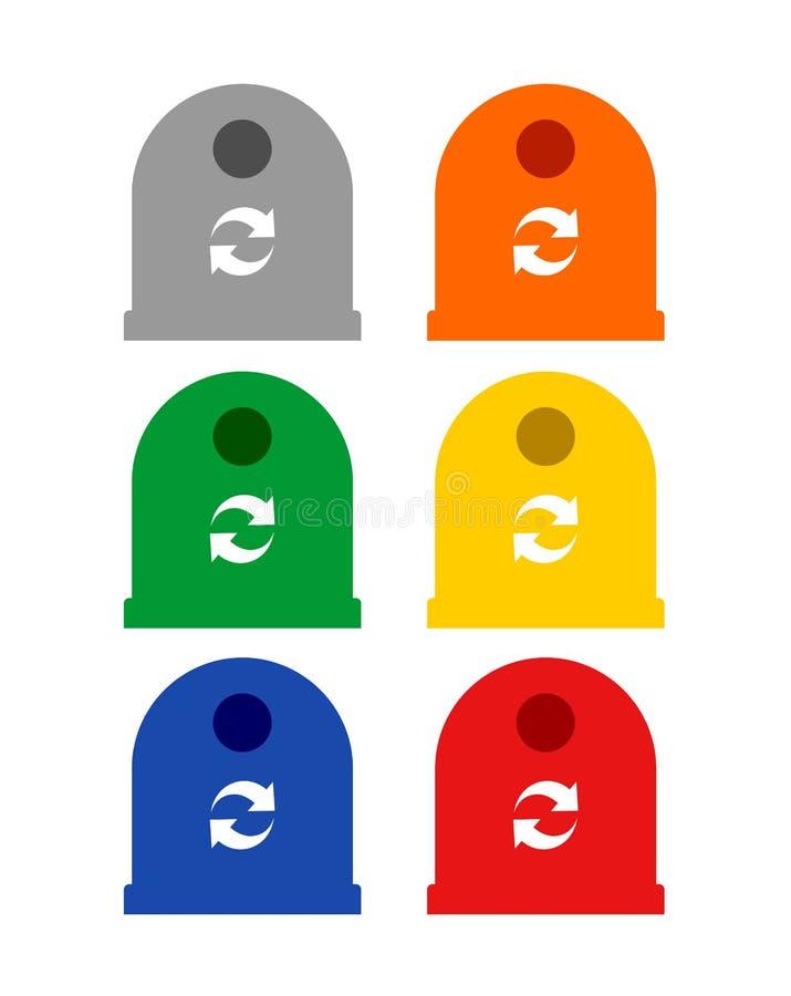Повторно используйте символы цвета иллюстрация вектора