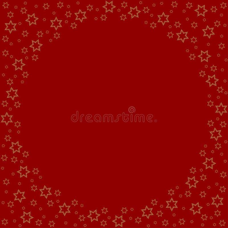 Повторять играет главные роли картина силуэта на красной предпосылке иллюстрация вектора