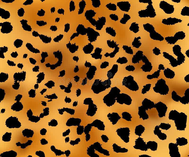 Повторять текстуры картины леопарда безшовный иллюстрация вектора