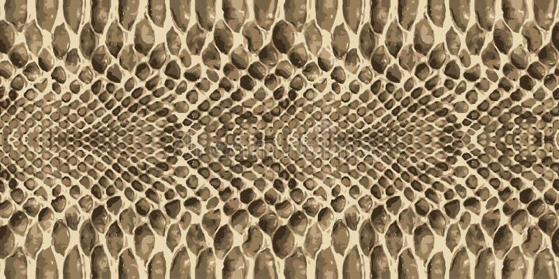 Повторять текстуры картины кожи змейки безшовный вектор Змейка текстуры Модная печать бесплатная иллюстрация