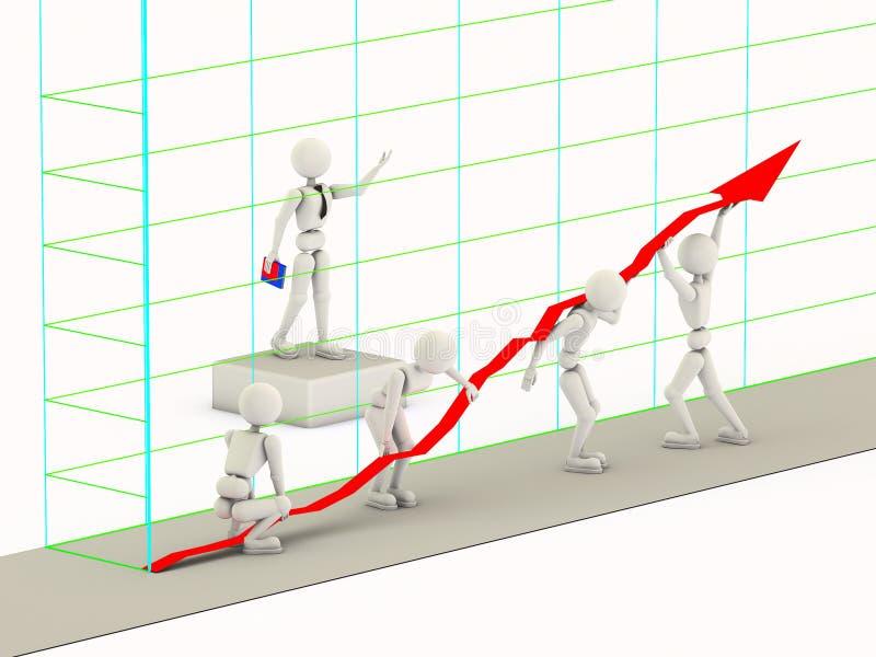 Повышение линии диаграммы иллюстрация вектора