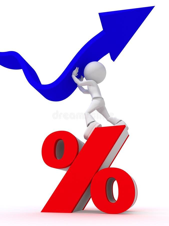 повышение процента принципиальной схемы иллюстрация штока