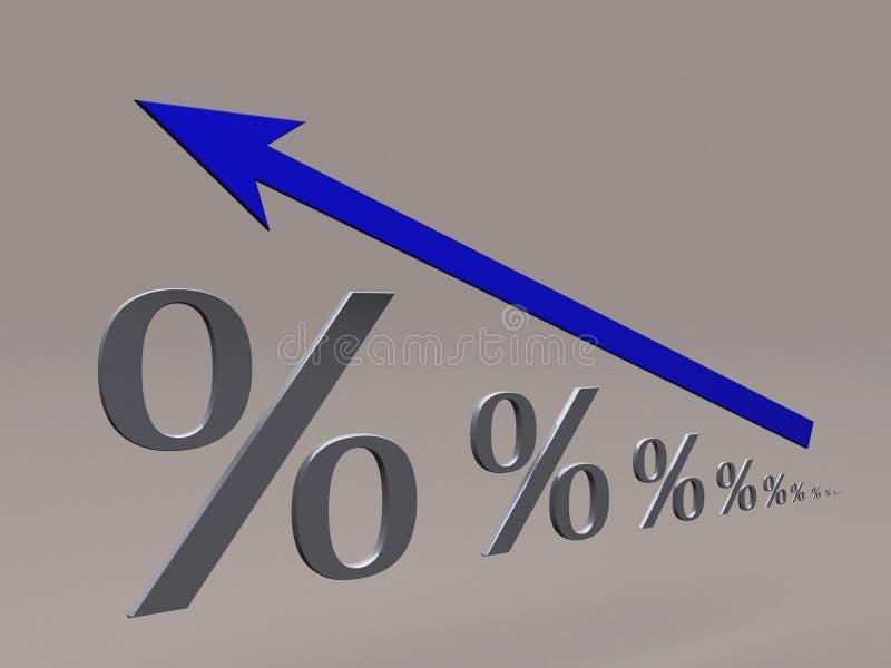повышение процентов иллюстрация вектора
