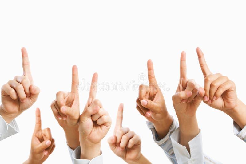 повышение руки стоковые фото