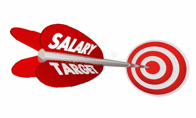 Повышение стрелки заработков дохода зарплаты цели зарплаты иллюстрация вектора