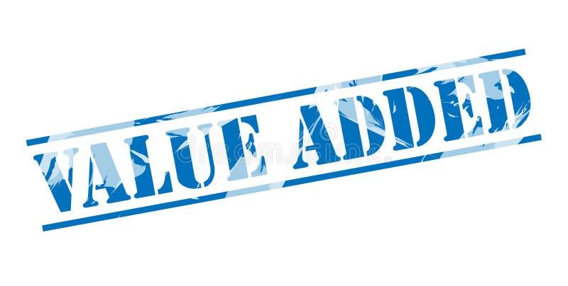 Повышенно-ценный голубой штемпель иллюстрация вектора