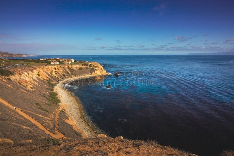 Повышенный взгляд бухты пеликана стоковое изображение
