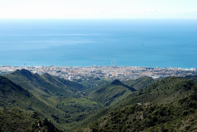 повышенный взгляд marbella Испании стоковое изображение rf