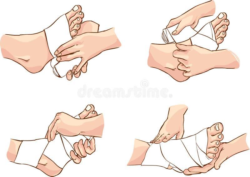 Повязка ноги иллюстрация штока