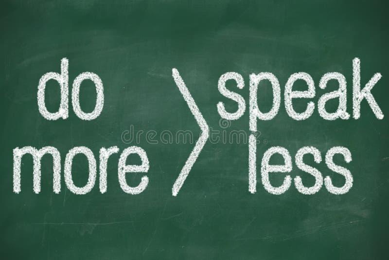 Поговорите более менее сделайте больше бесплатная иллюстрация