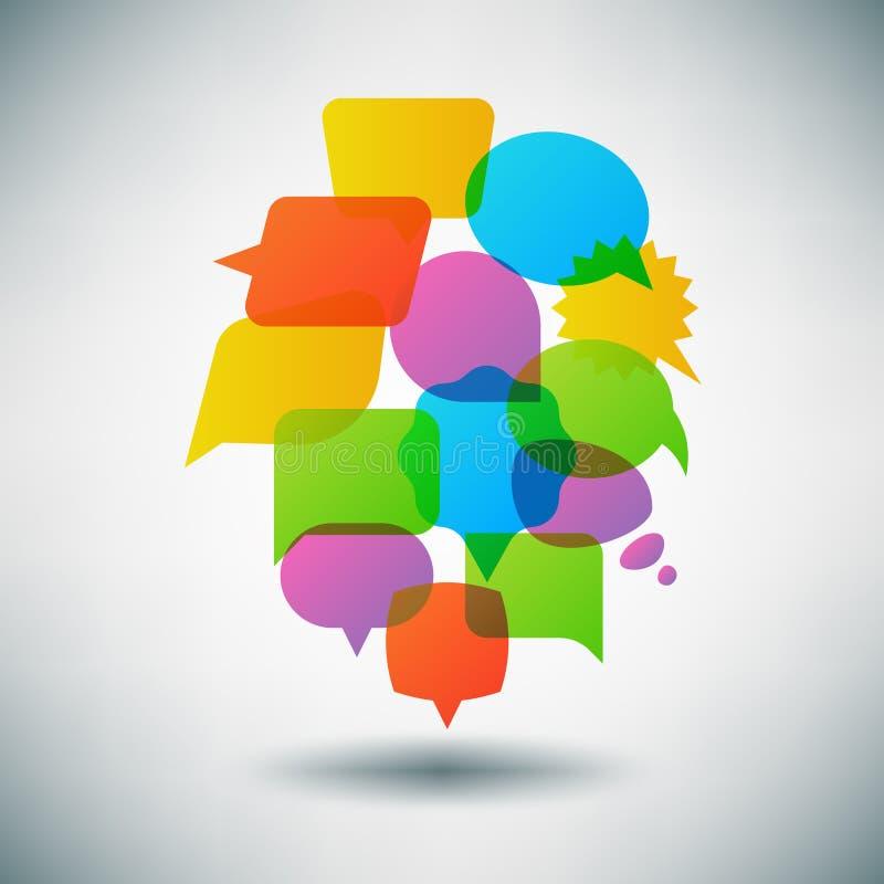 Поговорите концепцию вектора пузыря речи, infographic шаблон бесплатная иллюстрация
