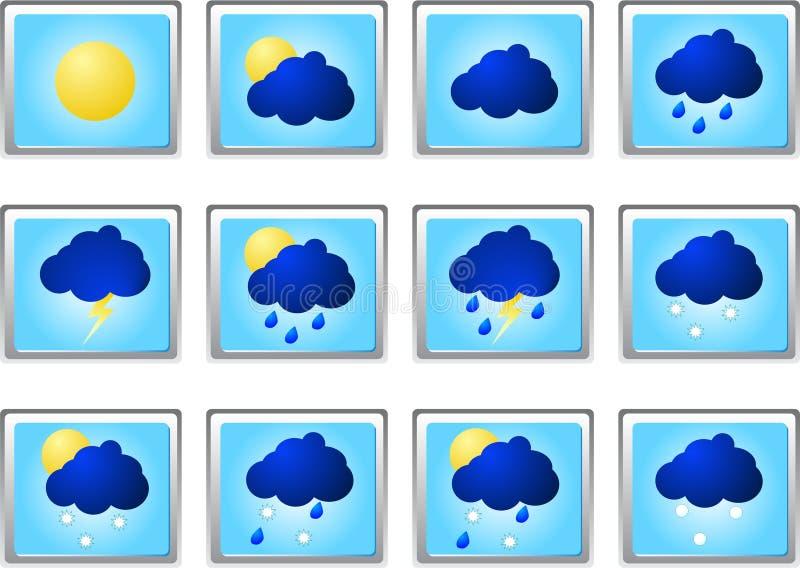 погода вектора вздоха иконы стоковые изображения