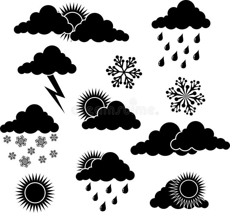 погода вектора элементов иллюстрация вектора