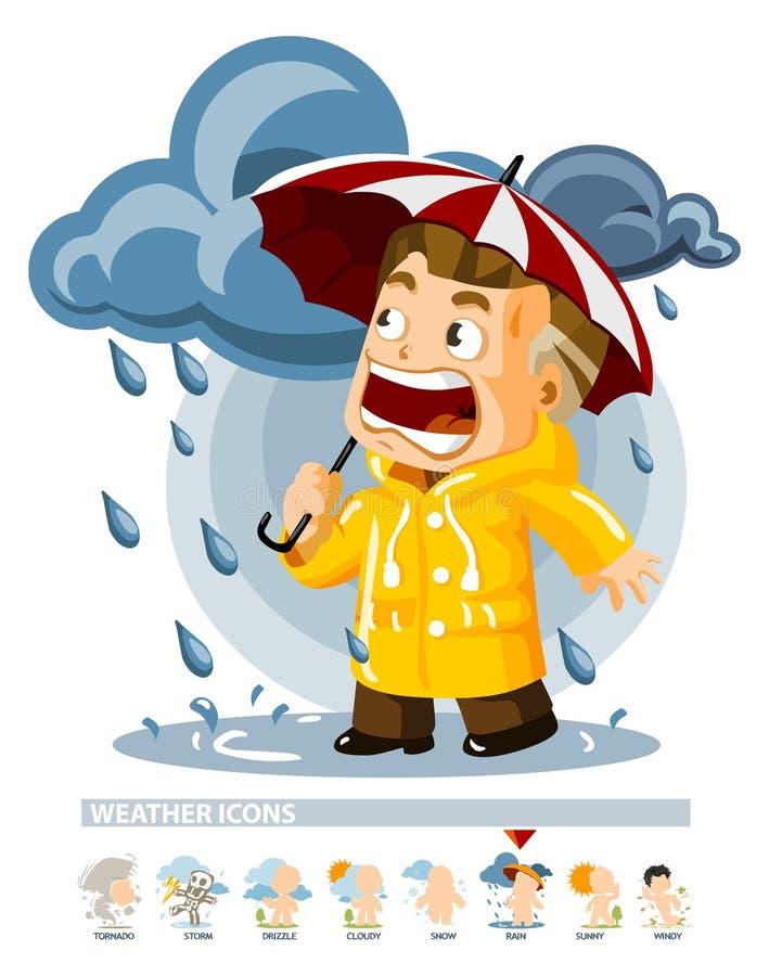 погода дождя иконы бесплатная иллюстрация