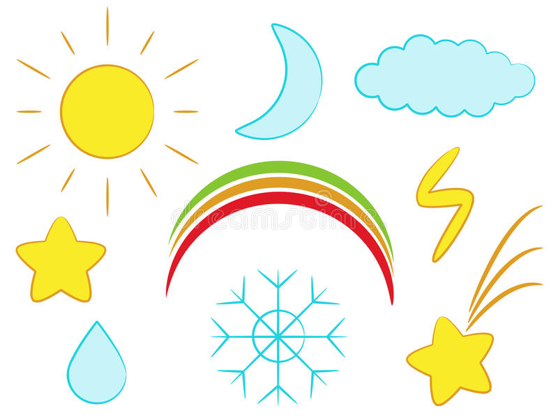 погода иконы иллюстрация вектора