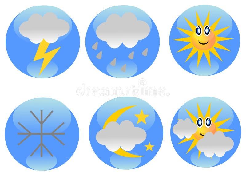 погода икон прогноза иллюстрация штока