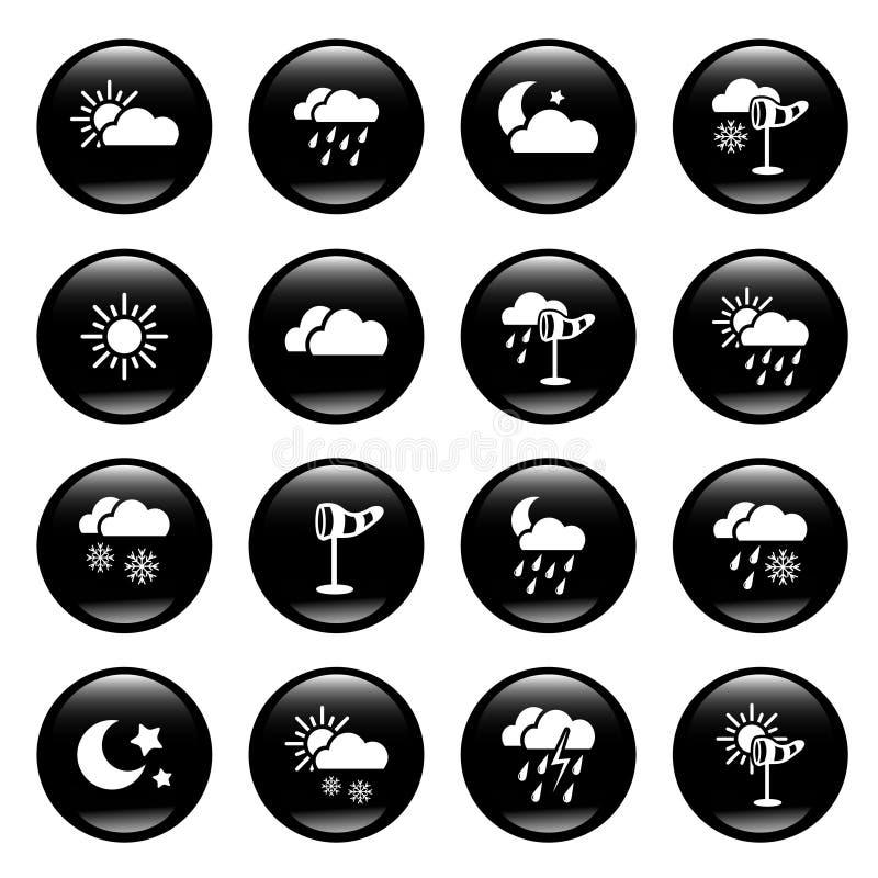 погода икон иллюстрация вектора