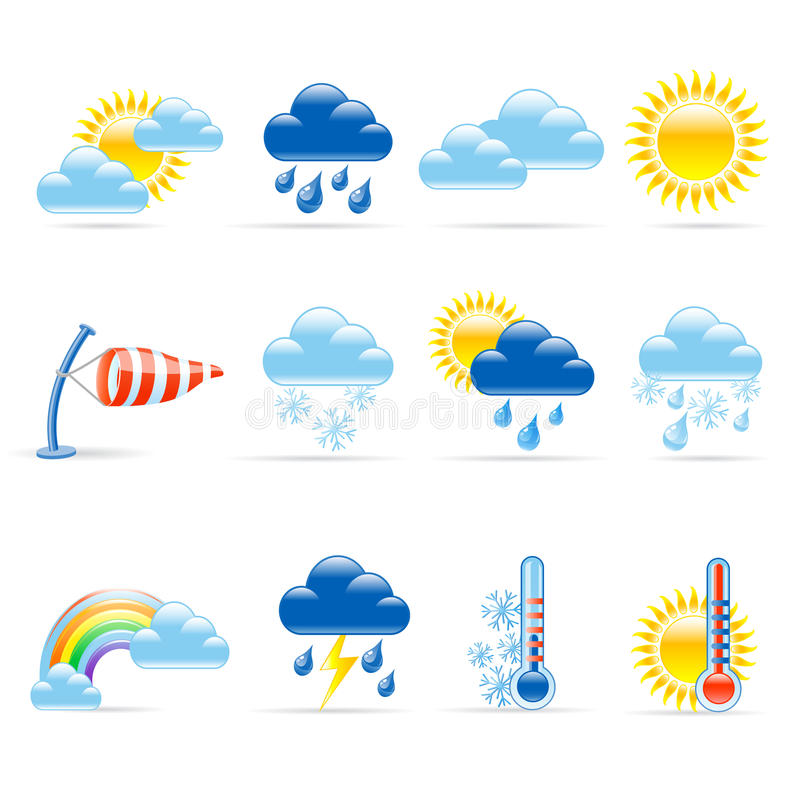 погода икон иллюстрация штока