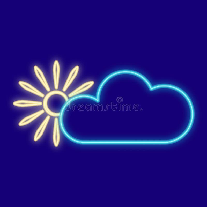 Погода Облака, солнце бесплатная иллюстрация
