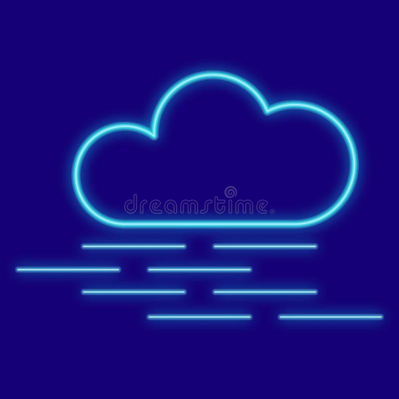 Погода Облака, туман иллюстрация вектора