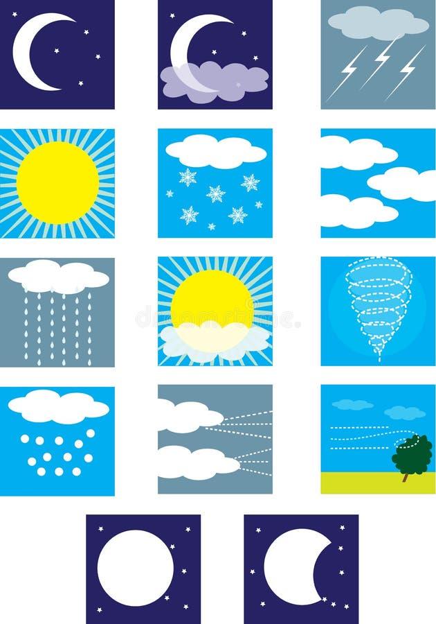 погода символов иллюстрация штока