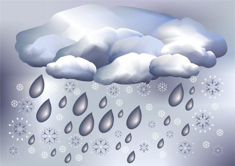 погода снежка дождя бесплатная иллюстрация