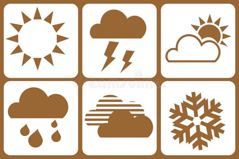 погода элементов конструкции иллюстрация штока