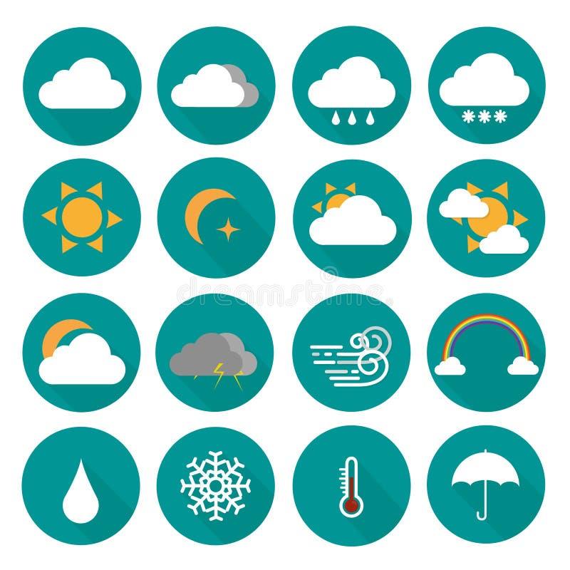 погода иконы установленная стоковое изображение rf