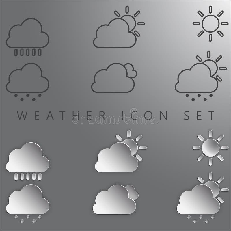 погода иконы установленная стоковые фото