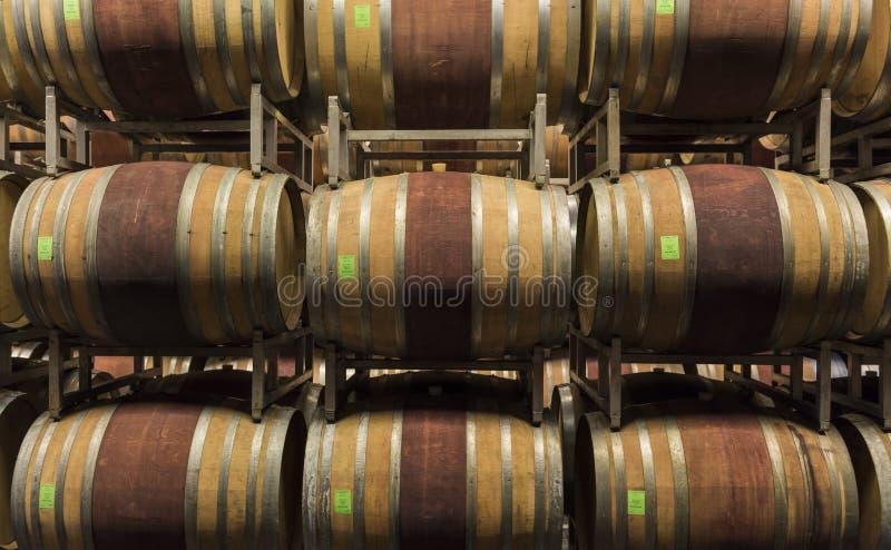 Погреб винодельни Ceretto, Пьемонта стоковое фото