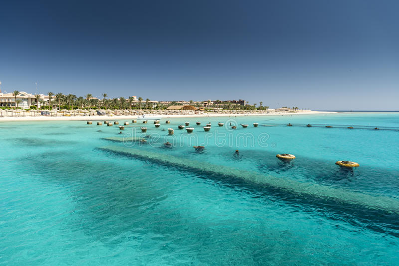 Погруженные в воду штендеры Hurghada стоковое изображение