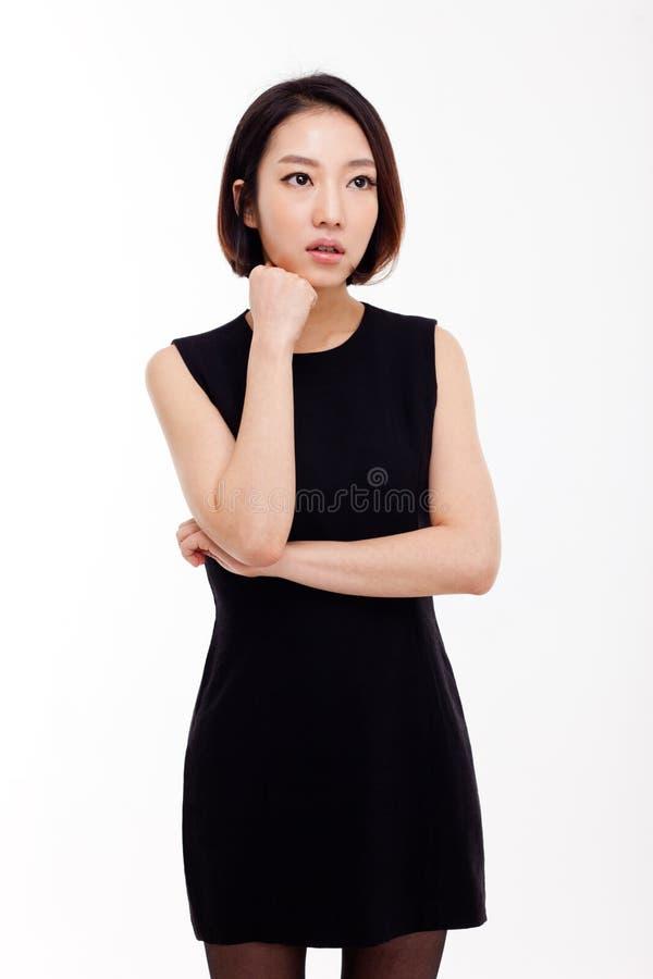 Подавленная молодая азиатская женщина стоковые изображения rf