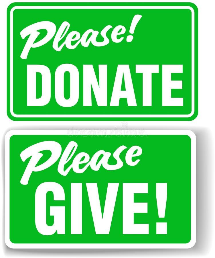 подарите дайте знак зеленого цвета пожалуйста установленный бесплатная иллюстрация
