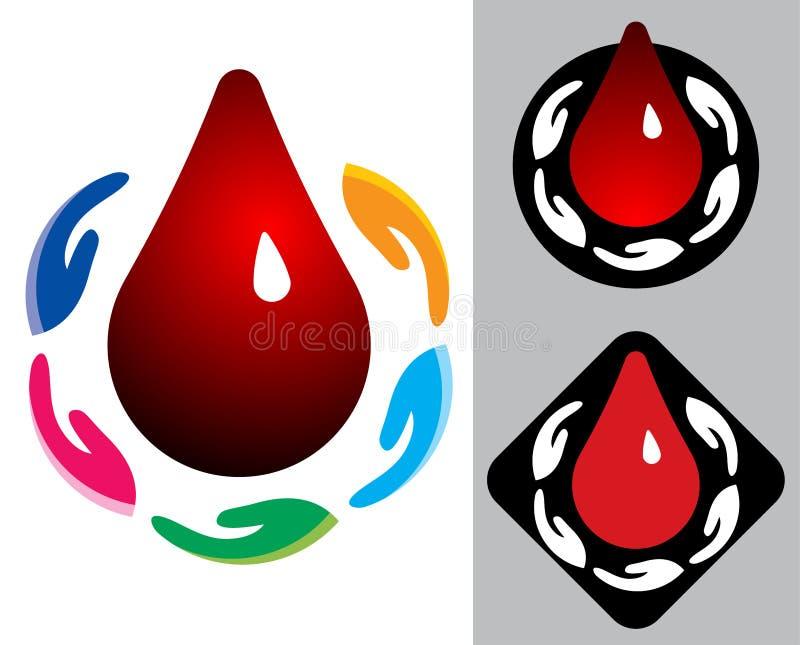 Подарите и сохраньте кровь - иллюстрацию вектора иллюстрация штока