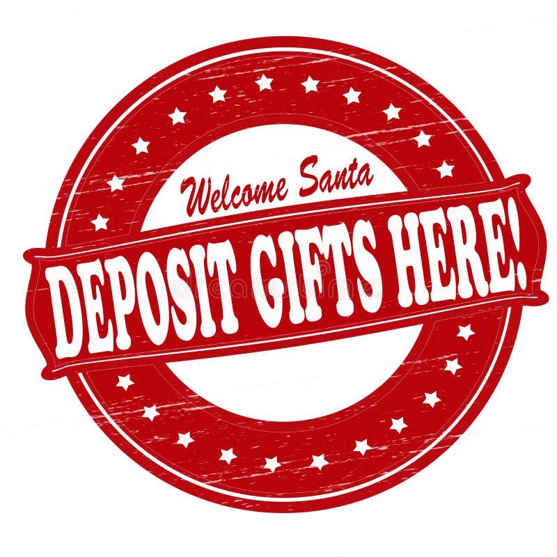 Подарки депозита здесь бесплатная иллюстрация
