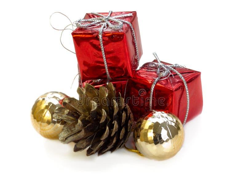 Подарки и украшения рождества стоковая фотография