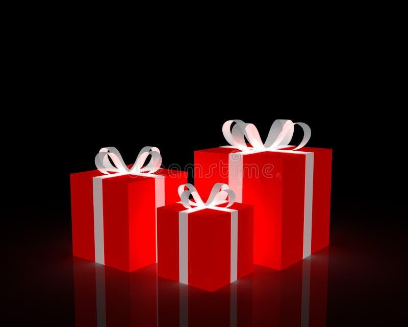 подарки красные бесплатная иллюстрация