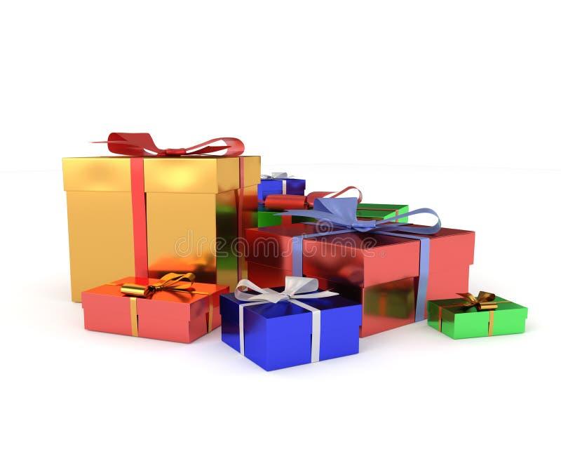 подарки предпосылки изолировали белизну стоковая фотография