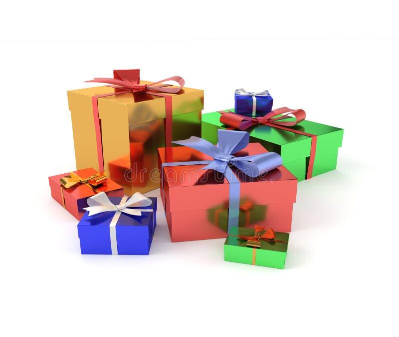 подарки предпосылки изолировали белизну стоковое фото rf
