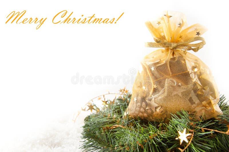 подарки рождества золотистые стоковые изображения rf
