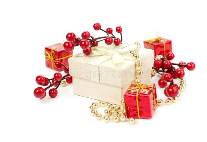 подарки украшений рождества стоковая фотография
