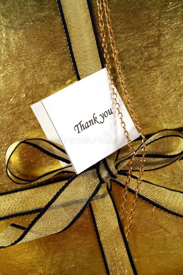 подарок благодарит вас стоковые изображения
