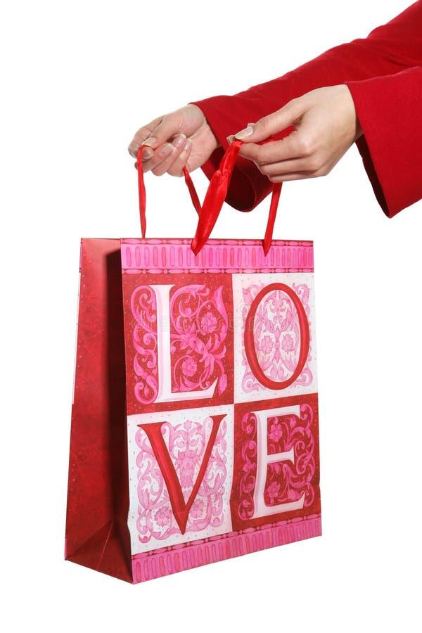 подарок давая влюбленность стоковые фото