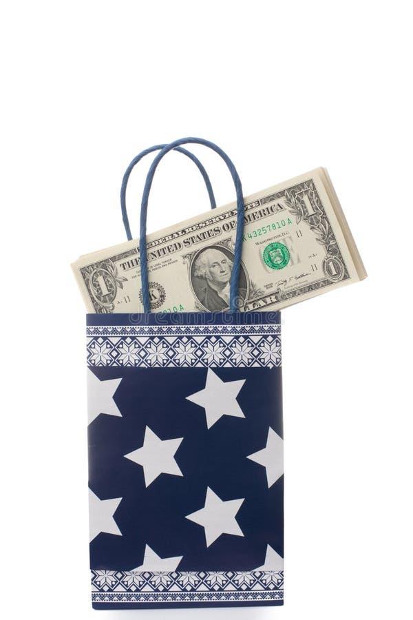 подарок долларов мешка стоковое фото rf