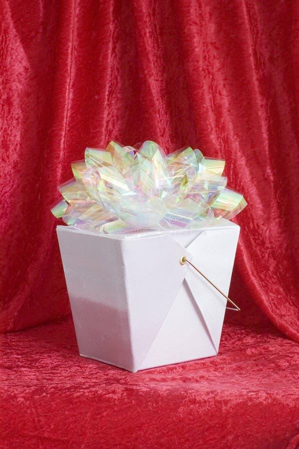 подарок китайца коробки смычка стоковое фото