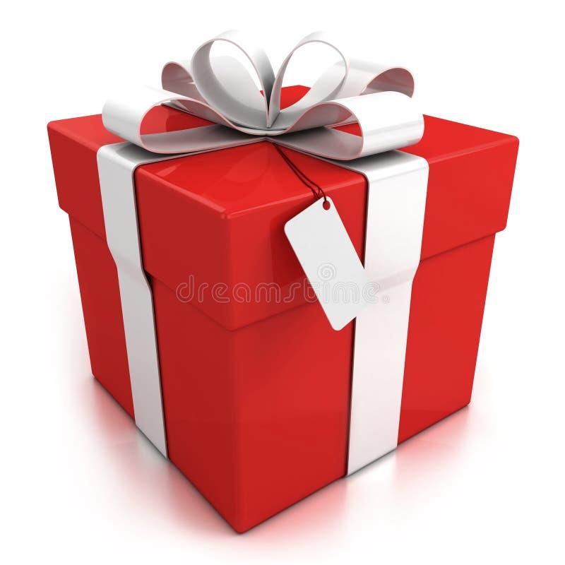 подарок коробки предпосылки над белизной иллюстрация вектора